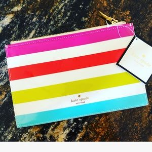 New Kate Spade Candy Stripe Pencil Pouch